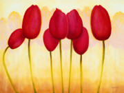 Jerome Lawrence Art - Tulips are People XV h by Jerome Lawrence