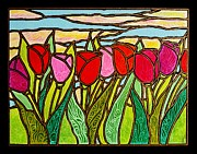 Jim Harris Framed Prints - Tulips at Sunrise Framed Print by Jim Harris