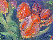 Impressions Of Tulips Paintings - Tulips by Barbara Anna Knauf