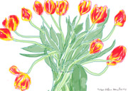 Tulips Digital Art Originals - Tulips by Chris Chase