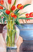 Linda L Stinson - Tulips In Glass Vase