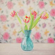 Backgrounds Metal Prints - Tulips Metal Print by Julia Davila-Lampe