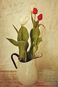 Still Life Prints Prints - Tulips Print by Kathy Jennings