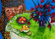 Tables Originals - Tulips Sea Side by Patti Schermerhorn