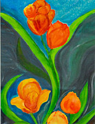 Tatyana Seamon Framed Prints - Tulips Framed Print by Tatyana Seamon
