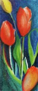 Vibrant Pastels Originals - Tulips Too by Evelyn Sprouse Rowe