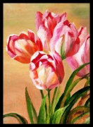 Usha Rai Art - Tulips by Usha Rai