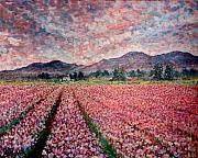 Wa Painting Metal Prints - Tullip Field. Metal Print by Georges St Pierre