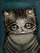 Gato Paintings - Tully by  Abril Andrade Griffith
