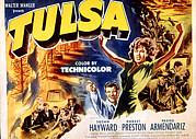 Fire Arms Prints - Tulsa, Robert Preston, Susan Hayward Print by Everett
