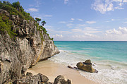 Water Over Rock Photos - Tulum, Riviera Maya by Fabian Jurado
