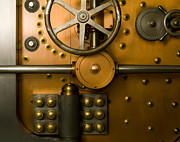 Enterprise Metal Prints - Tumbler Bank Vault Door Metal Print by Adam Crowley