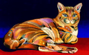 Feline Cat Art Paintings - Tumbleweed by Bob Coonts