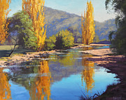 Fiery Paintings - Tumut River Gold by Graham Gercken