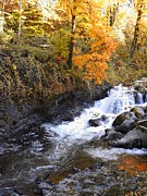 A River In Autumn Posters - Tumwater Falls in the Autumn Poster by Terri Thompson