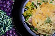Noodles Photo Prints - Tuna Noodle Casserole Print by Andee Photography