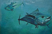 Tuna School Print by Terry Gill