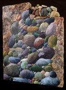 Rocks Sculpture Acrylic Prints - Tundra Acrylic Print by Taunya Bruns