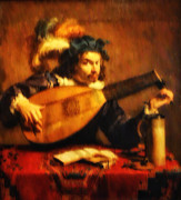 Lute Digital Art - Tuning Up the Lute by Bill Cannon