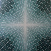 Op Art Paintings - Tunnel by Chris Long