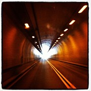 Iphone4 Posters - Tunnel In West Virginia Poster by  Abril Andrade Griffith