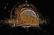 Abandoned  Pyrography - Tunnel of Gold by Shirley Tinkham