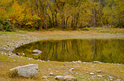 Reflections In Water Metal Prints - Tunnel Pond Metal Print by Idaho Scenic Images Linda Lantzy