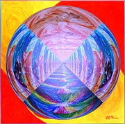 Original Acrylic Framed Prints - Tunnel Vision  Framed Print by Buddy Paul