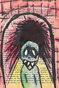 Demon Mixed Media Framed Prints - Tunnel Vision Framed Print by Jera Sky