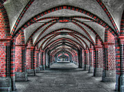 Berlin Germany Framed Prints - Tunnel with arches Framed Print by Mats Silvan