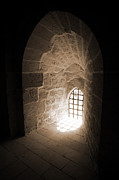 Architectural Details Photo Prints - Tunneled Arch Window Print by Donna Corless