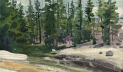 Yosemite Painting Originals - Tuolumne River by Donald Maier