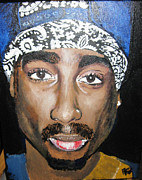 Rap Painting Originals - Tupac by Bobbi West