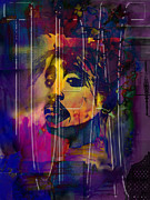 Songwriter Mixed Media Posters - Tupac Poster by Christine Mayfield