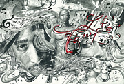 Hip Drawings - Tupac isnt Dead he lives in your Head by Demaries Isom