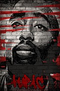 Icon Mixed Media Posters - Tupac  Poster by J S
