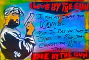 First Amendment Paintings - TUPAC  Live by the Gun by Tony B Conscious