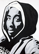 Portrait Artist Posters - Tupac Poster by Michael Ringwalt