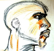 Icons Drawings Originals - Tupac Shakur by Mia Alexander