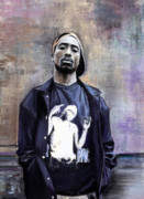 West Framed Prints - Tupac Shakur Framed Print by Raymond L Warfield jr