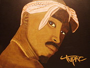 Writer Painting Originals - Tupac Shakur by Tammy Rekito