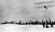 Technical Photo Framed Prints - Tupolev And His Glider, 1910 Framed Print by Ria Novosti