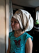 Towel Digital Art - Turbin Towel by Ron Bissett