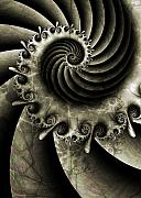 Spiral Digital Art - Turbine by David April