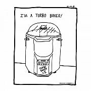 Cartoon Drawings - Turbo Bread Machine Baker Comic by Karl Addison