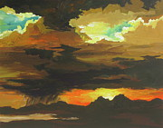 Storm Clouds Painting Originals - Turbulence by Sandy Tracey