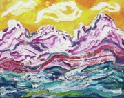 Suzanne  Marie Leclair - Turbulent Sea and Mountains