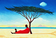 Mom Paintings - Turkana Afternoon by Tilly Willis