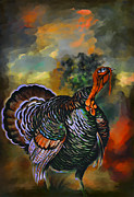 Turkey Digital Art Metal Prints - Turkey  Metal Print by Andrzej  Szczerski
