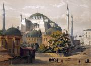 Byzantine Framed Prints - Turkey: Hagia Sophia, 1852 Framed Print by Granger